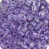 Miyuki square (Cube) 4mm Purple Transparent Lined Luster